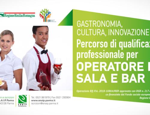 GASTRONOMIA, CULTURA, INNOVAZIONE: Iscrizioni aperte fino 15/05 per il Percorso di qualificazione professionale per OPERATORE DI SALA E BAR
